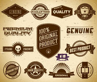 Vintage labels. Collection 15 Royalty Free Stock Photo