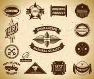 Vintage labels. Collection 9 Stock Images