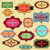 Vintage labels collection Royalty Free Stock Photo