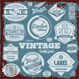 Vintage labels collection Stock Images