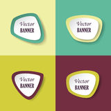 Vintage labels on colorful background Stock Image