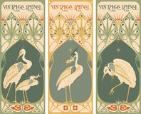 Vintage labels: fish and poultry - art nouveau frame. Vintage labels: fish and poultry vector - art nouveau frame Royalty Free Stock Image