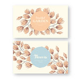 Vintage labels with flower Stock Photo