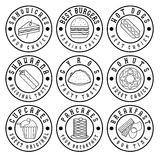 Vintage labels of food Royalty Free Stock Photo