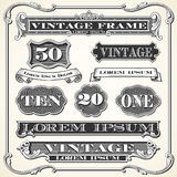 Vintage Labels, Frames and Ornaments Royalty Free Stock Photo