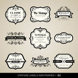 Vintage labels and frames Stock Image