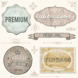 Vintage labels and ornaments Royalty Free Stock Photos
