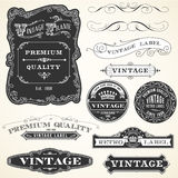 Vintage Labels and Ornaments Royalty Free Stock Photography