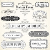 Vintage Labels and Ornaments Stock Photos