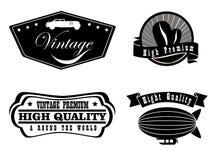 Vintage labels Stock Photo