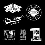 Vintage labels - premium and top quality products. Product labels in vintage style - premium and top quality products, premium products and satisfaction Stock Photography