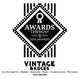 Vintage Labels - Recognition Awards Royalty Free Stock Image