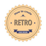 Vintage labels retro logo. Icon for web design Stock Photo