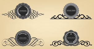 Vintage labels  retro style set. Royalty Free Stock Image