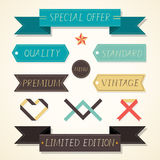 Vintage labels retro style set Royalty Free Stock Photography