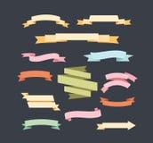 Vintage labels Ribbon Banners. Hand Drawn vintage floral elements for design royalty free illustration