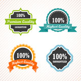 Vintage labels and ribbon retro style set. Royalty Free Stock Image