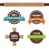 Vintage labels and ribbon retro style set Royalty Free Stock Images