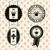 Vintage labels (royal theme) Stock Photography