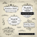 Vintage labels and scroll elements Royalty Free Stock Image