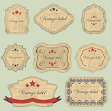 Vintage labels set Stock Images
