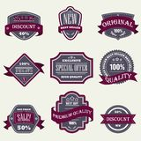 Vintage Labels set Royalty Free Stock Photography