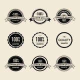 Vintage labels. Set of 9 vintage badges and labels Royalty Free Stock Images