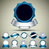 Vintage labels set. Blue. Stock Image