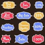 Vintage Labels set. Royalty Free Stock Photos