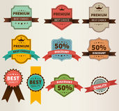 Vintage Labels  set discount and premium Royalty Free Stock Photo