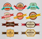 Vintage Labels  set discount and premium Stock Image