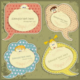 Vintage labels set with people Royalty Free Stock Photo