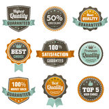 Vintage labels set. Royalty Free Stock Images