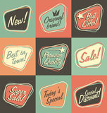 Vintage labels set Stock Image