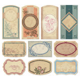 Vintage labels set (vector) stock photo