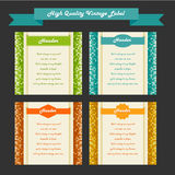 Vintage labels set, vector Royalty Free Stock Photos