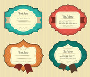 Vintage labels set. Vector blanks with space for text. Royalty Free Stock Image