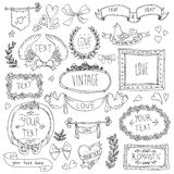 Vintage labels set, vector Royalty Free Stock Photography