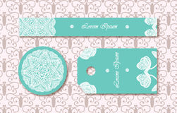 Vintage labels set. Vector tags in pastel colors Stock Photography