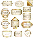 Vintage labels set Stock Photos