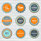 Vintage labels template set. Vector retro badges Stock Image