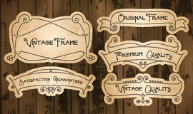Vintage labels with thin lines Royalty Free Stock Photos