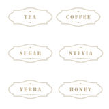 Vintage labels for use in kitchen royalty free illustration
