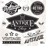 Vintage Labels. Vector Collection of Vintage Labels and Badges Royalty Free Stock Images