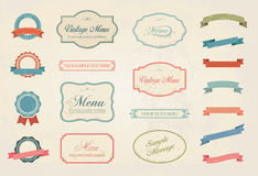 Vintage Labels Vector Design Elements Collection Set stock illustration