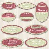 Vintage labels. Vector illustration of vintage labels Royalty Free Stock Image