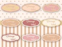 Vintage labels. Vector illustration of vintage lanels Stock Photography