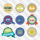 Vintage labels vector set for Back to School Day. Vintage labels vector set for Back to School Day Stock Images