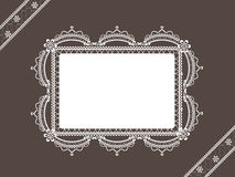 Vintage lace background with frame Stock Photography