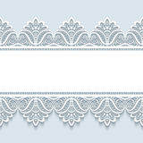 Vintage lace background with seamless borders Royalty Free Stock Image